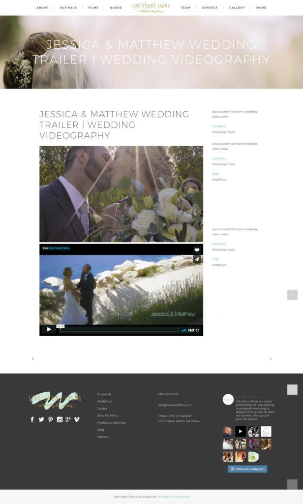 Life Event Films wedding example