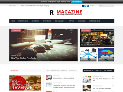 RMagazine home page featured small